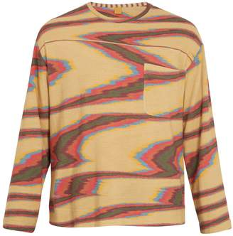 Missoni Aztec-print long-sleeved cotton T-shirt