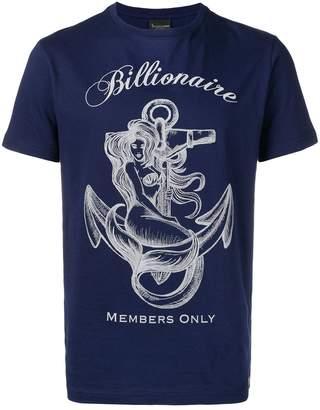 Billionaire logo print T-shirt