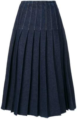 Pringle pleated denim skirt