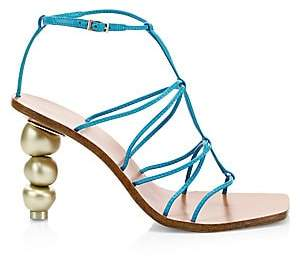Cult Gaia Women's Pietra Leather Ankle-Strap Sandals