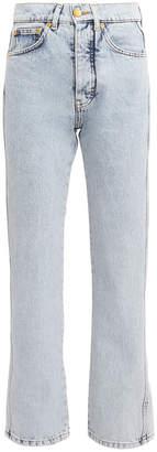 Victoria Victoria Beckham Victoria, Victoria Beckham Cali Cropped Acid Wash Jeans