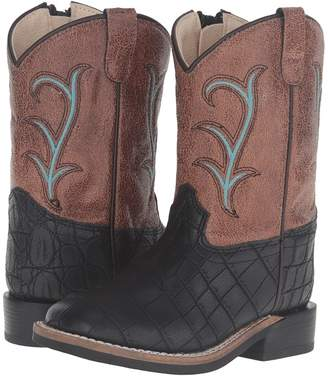Old West Kids Boots Square Toe Cowboy Boots