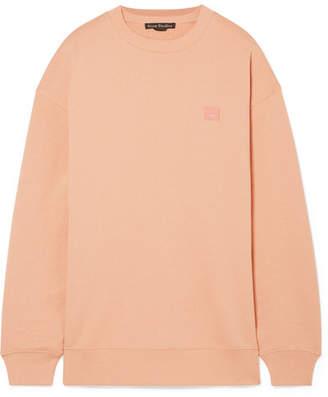 Acne Studios Forba Face Appliquéd Cotton-jersey Sweatshirt - Blush