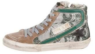Golden Goose Slide Tropical-Print Sneakers