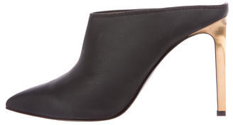 LanvinLanvin Leather Pointed-Toe Mules