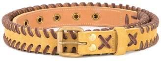 Kolor plait buckled belt
