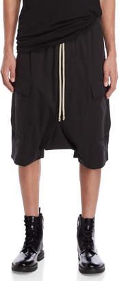 Rick Owens Drawstring Drop Crotch Shorts