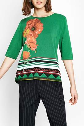 Desigual Green Floral Top