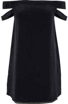 7b8b0a815912 COM · Michelle Mason Off-The-Shoulder Cutout Silk Crepe De Chine Mini Dress