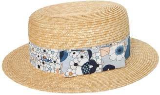 Chloé Straw Hat With Printed Hatband