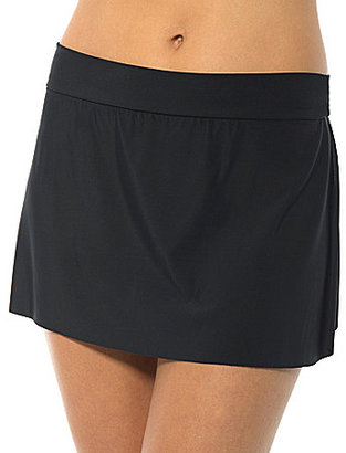 Magicsuit Solid Jersey Tennis Skirt Swim Bottom $74 thestylecure.com