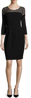 Elie Tahari Suzie 3/4-Sleeve Sheath Dress $398 thestylecure.com