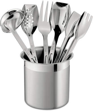 All-Clad Stainless Steel 6 Piece Cook and Serve Kitchen Utensil Crock Set
