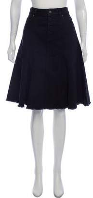 Loewe A-Line Denim Skirt