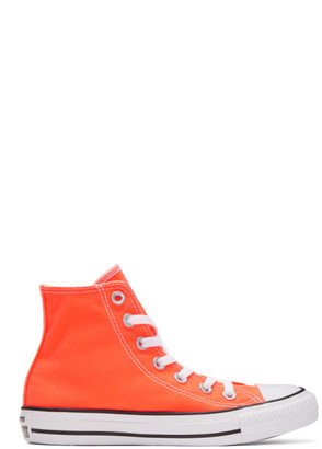 Converse Orange Classic Chuck Taylor All Star OX High-Top Sneakers $55 thestylecure.com