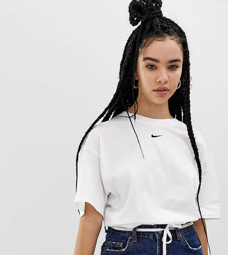3a3f4d47a Nike White Mini Swoosh Boyfriend T-Shirt