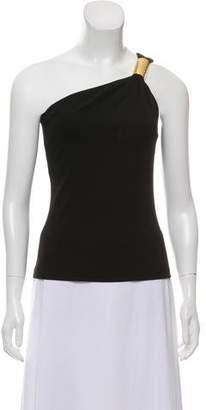 Michael Kors One-Shoulder Embellished Top