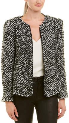 Rebecca Taylor Fluffy Tweed Wool & Mohair-Blend Jacket