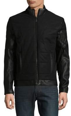 Calvin Klein Modern Faux Leather-Trim Jacket