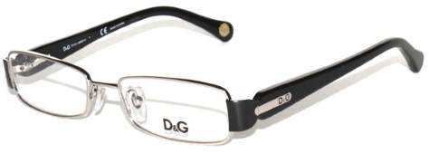 Dolce & Gabbana Rectangular Eyeglass Frames DG5093 49mm Silver/Black