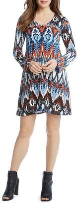 Karen Kane Ikat Print A-Line Dress $109 thestylecure.com
