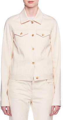 The Row Rearman Button-Front Cotton-Twill Jacket