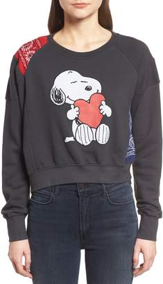 Daydreamer Snoopy Bandana Panel Sweatshirt