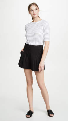 Vince Micro Stripe Elbow Sleeve Tee
