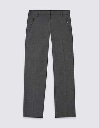 Marks and Spencer Girls' Plus Fit Slim Leg Trousers