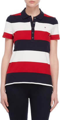 Tommy Hilfiger Tri-Color Short Sleeve Polo Shirt