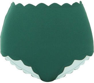 Marysia Swim Santa Monica Scalloped Bikini Briefs - Emerald