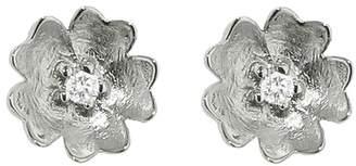 Megan Thorne Diamond Buttercup Stud Earring - White Gold