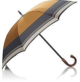 Barneys New York Men's Colorblocked Tech-Twill Stick Umbrella - Yellow