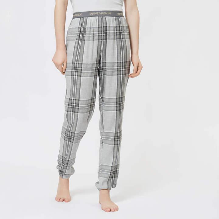 Women's Tartan Flannel Pants with Cuffs