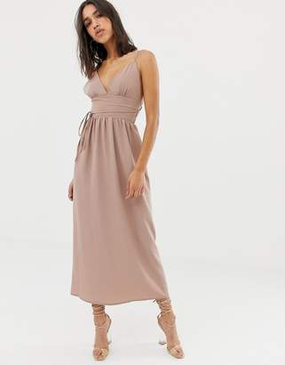 Love double strap chiffon maxi dress
