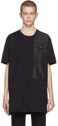 Diesel Black Gold Black Panelled Pockets T-Shirt