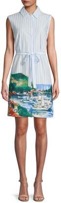 Tommy Hilfiger Sleeveless Stripe Shirtdress