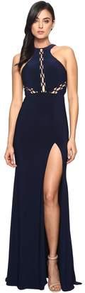Faviana Lace-Up Illusion on Jersey 7909 Women's Dress