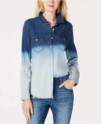 INC International Concepts I.N.C. Ombré Jean Shirt, Created for Macy's