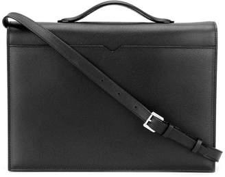 Valextra top handle messenger bag