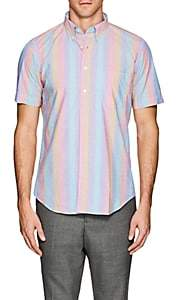 Hartford Men's Striped Cotton Poplin Shirt