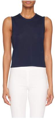 Fivestory New York Zoe Cashmere Shell In Navy