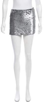 Haute Hippie Sequin Embellished Mini Skirt