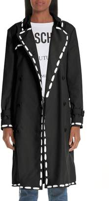 Moschino Dotted Line Trench Coat