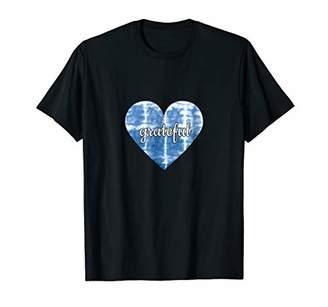 Grateful Tie Dye Heart T Shirt