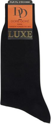 Dore Dore Luxe flat knit cotton medium length socks $28.50 thestylecure.com
