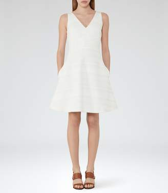 Reiss Daisy - Fit And Flare Dress in Off White