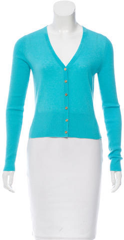 Tory Burch Tory Burch Long Sleeve Cashmere Cardigan