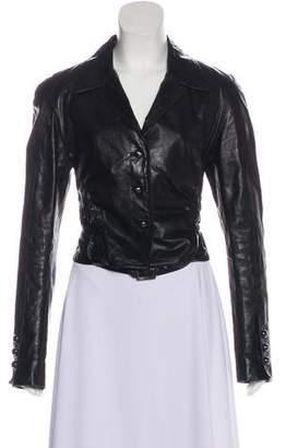 Robert Rodriguez Notch-Lapel Leather Jacket