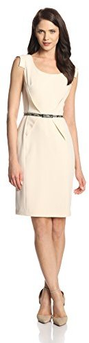 Adrianna Papell Women's Belted Sheath Dress